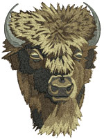 Bison Embroidery Design - Vodmochka Embroidery Portrait Picture - Click to Enlarge - Dimensions: (500X399) File size: 40KB