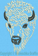 Bison Portrait #2 - Vodmochka Embroidery Design Picture - Click to Enlarge