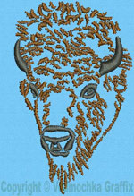 Bison Portrait #3 - Vodmochka Embroidery Design Picture - Click to Enlarge