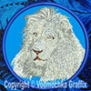 White Lion Embroidered Patch for Lion Lovers - Click to Enlarge