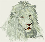 High Definition White Lion Portrait HD2 - Vodmochka Embroidery Design Picture - Click to Enlarge - Dimensions (500X462) File Size: 38KB