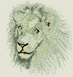 High Definition White Lion Portrait HD4 - Vodmochka Embroidery Design Picture - Click to Enlarge - Dimensions (500X534) File Size: 53KB