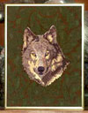 Timber Wolf High Definition Portrait #1 Embroidery Portrait on canvas for Wolf Lovers