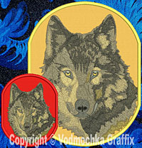 Wolf High Definition Portrait Embroidery Patch - Click for More Information