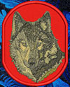 Timber Wolf High Definition Portrait #1 Embroidered Patch for Wolf Lovers - Click to Enlarge