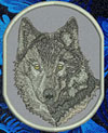 Grey Wolf High Definition Portrait #2 Embroidered Patch for Wolf Lovers - Click to Enlarge