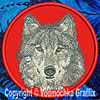 Grey Wolf High Definition Portrait #4 Embroidered Patch for Wolf Lovers - Click to Enlarge