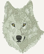 Arctic Wolf Portrait - Vodmochka Embroidery Design Picture - Click to Enlarge