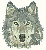 Wolf Portrait - Vodmochka Embroidery Design Picture - Click to Enlarge