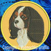 Cavalier Spaniel BT3412 Embroidered Patch for CavalierSpaniel Lovers - Click to Enlarge