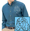 Cavalier Spaniel Embroidered Patch for Cavalier King Charles Spaniel Lovers - Click to Enlarge