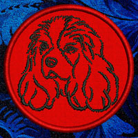 Cavalier King Charles Spaniel Portrait Embroidery Patch - Click for More Information